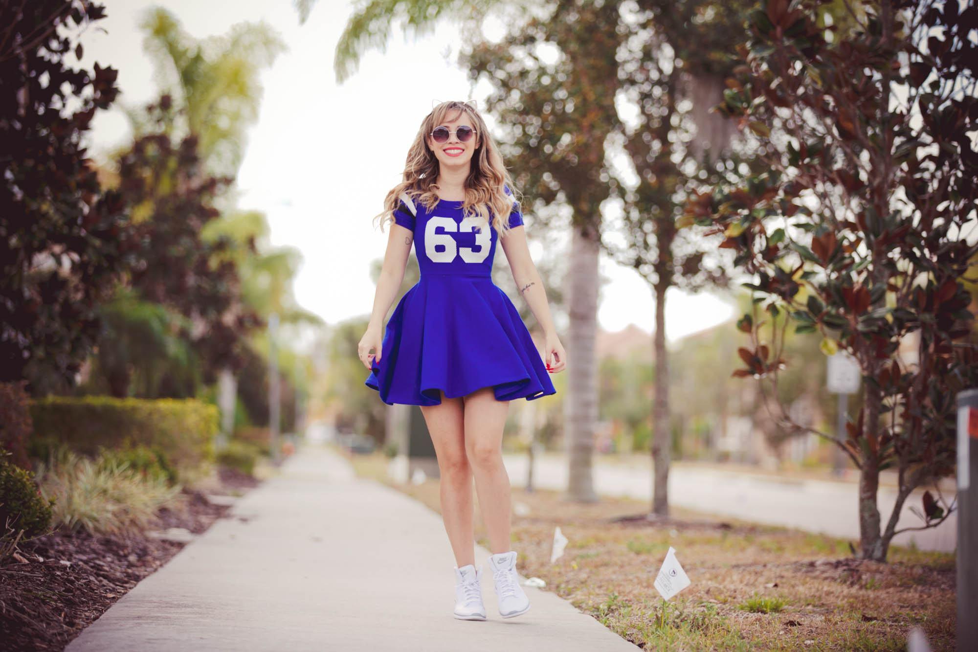 Vestido College Azul