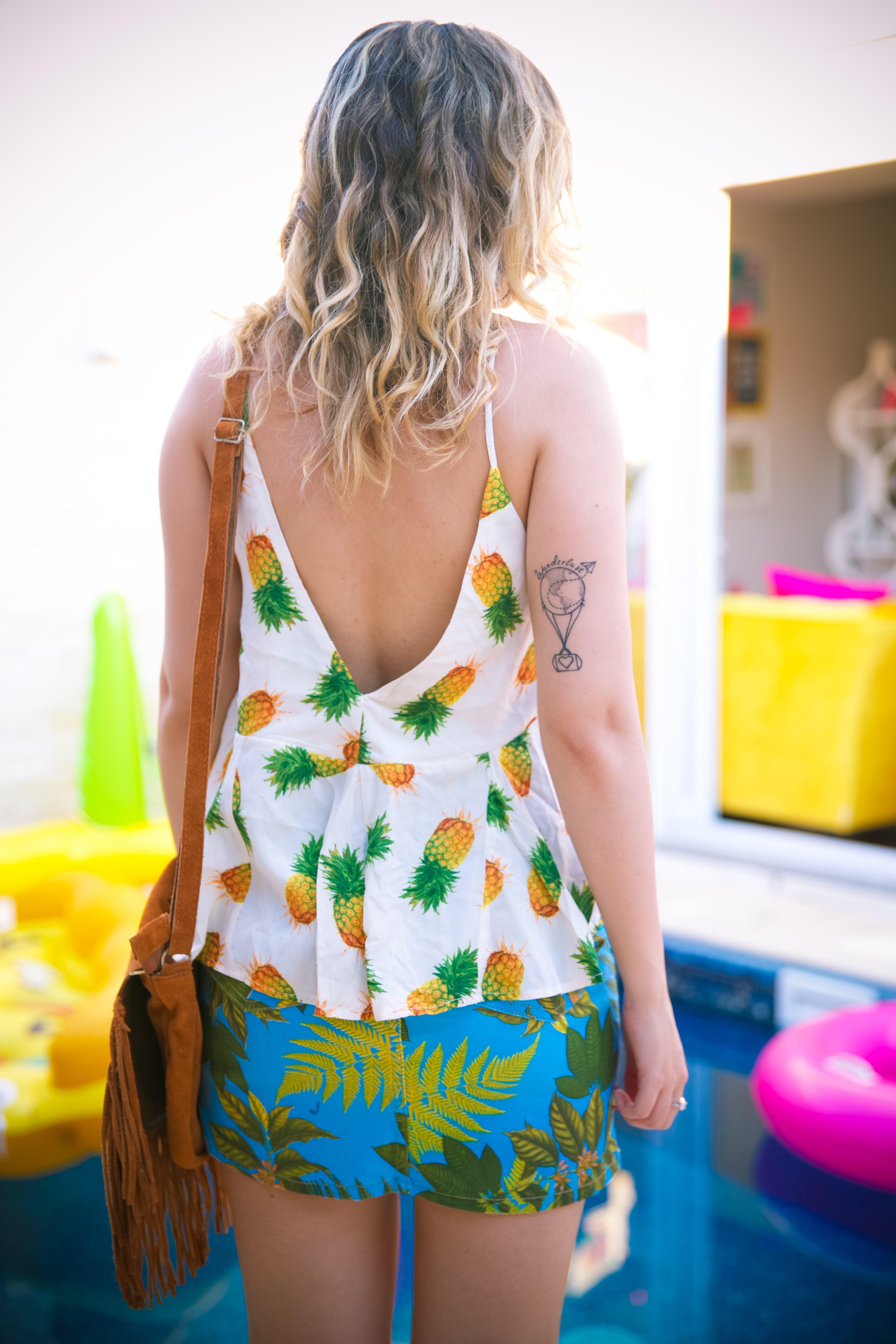 Estampa abacaxi
