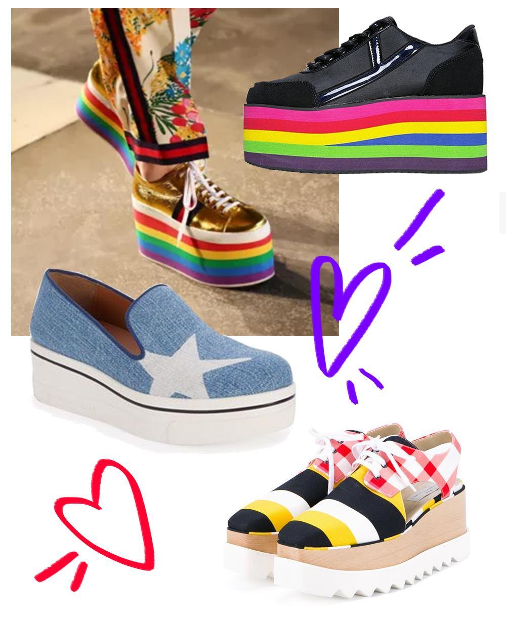 Sapatos Oxford com Plataformas